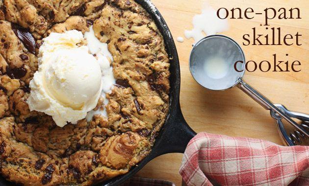 One Pan Chocolate Chip Skillet Cookie