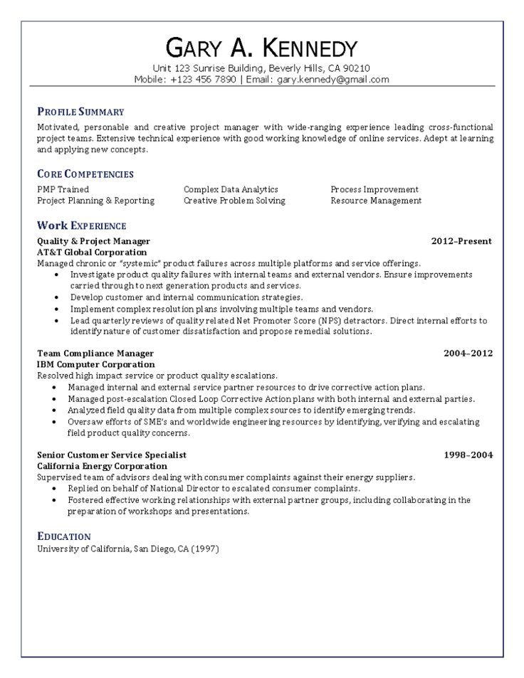 resume examples quality manager  free floor plans resume