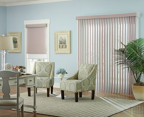 Wide Window Solutions Traditional Vertical Blinds Collection: Runway Color  Name: Ecco Color Number: