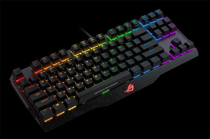 Claviers mécaniques gaming ROG Claymore et ROG Claymore Core - Ces nouveaux claviers mécaniques gaming au rétroéclairage LED RGB intègrent des switches Cherry MX et la fonction Asus Aura Sync ainsi qu'un pavé numérique amovible.