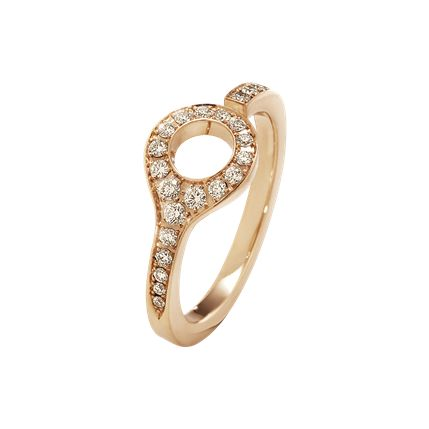 DUNE RING - 18 KT. ROSE GOLD WITH CINNAMON DIAMONDS