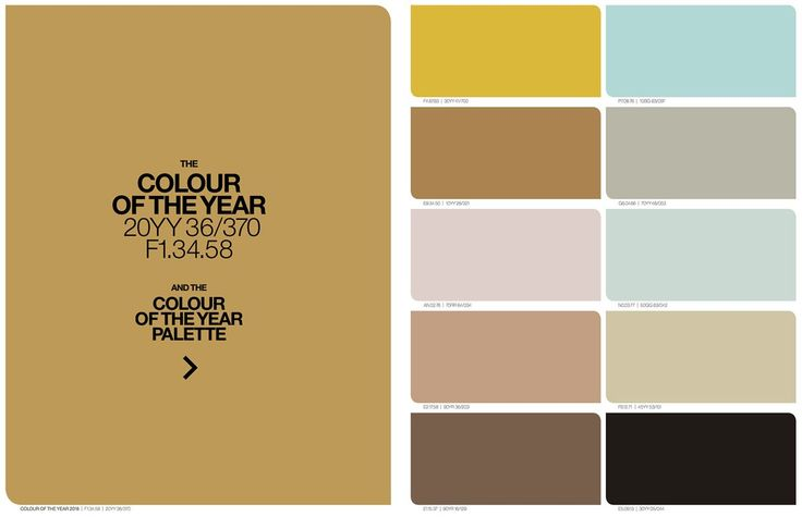 Colour of the year 2016 – Ochre Gold