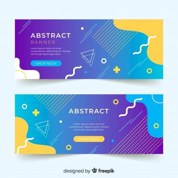 Download Abstract Banner Template For Free In 2020 Banner Design Layout Web Banner Design Banner Design Inspiration