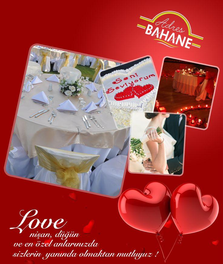 Nişan, düğün ve en özel anlarınızda sizlerin yanında olmaktan mutluyuz ! http://adresbahane.com.tr/