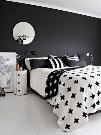 Quarto preto e branco: