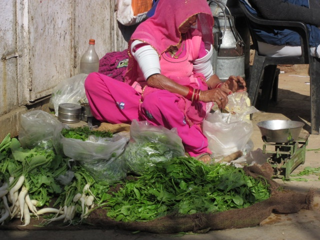 Woman selling vegetables. Jodhpur.