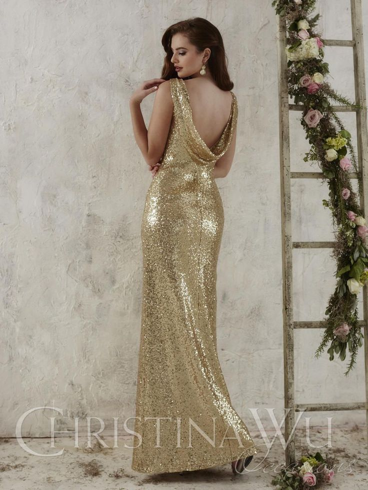 Christina Wu Occasions 22704 Sequin Bridesmaid Gown