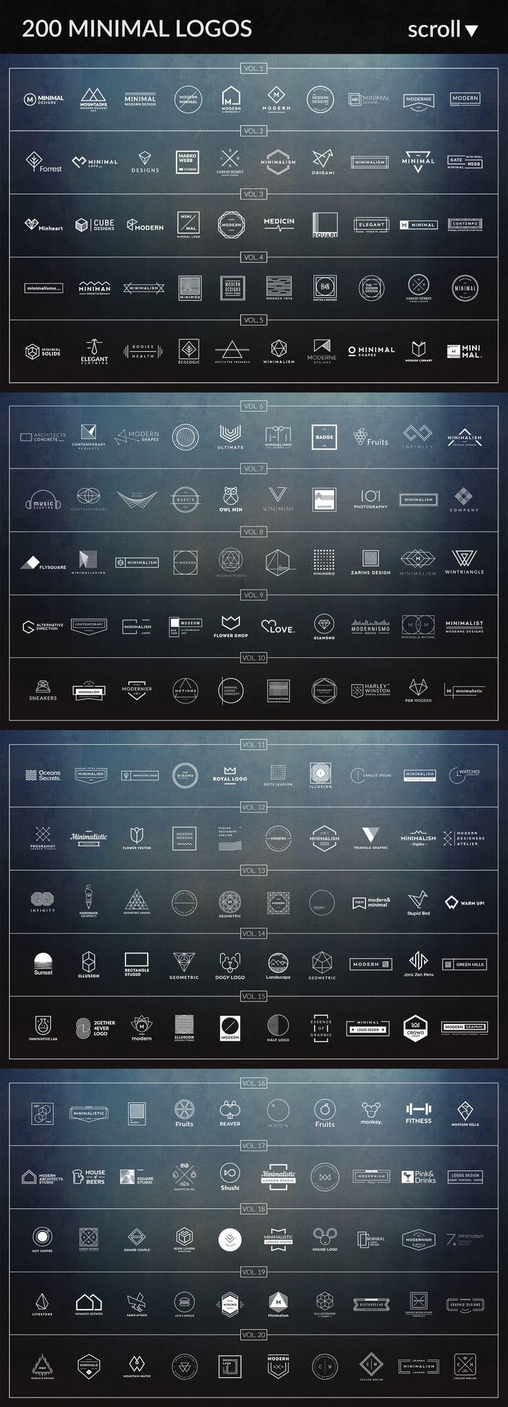 800 Logos & Badges SALE by Piotr Łapa Atelier on @creativemarket