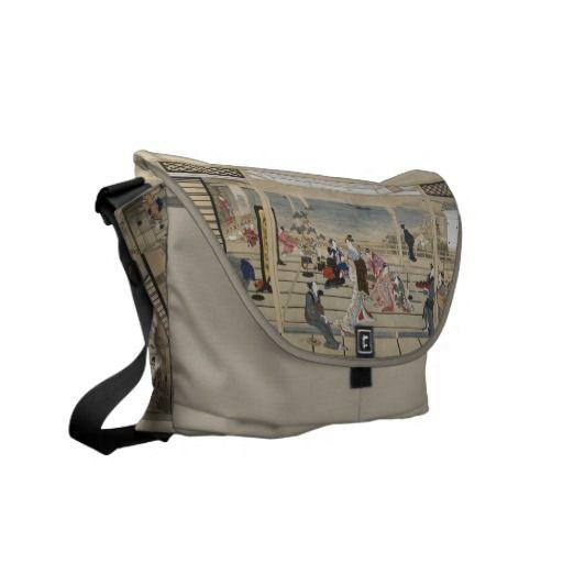 Utamaros Japanese Art messenger bag