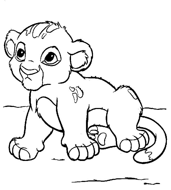 simba still small coloring pages for kids printable lion king coloring pages for kids