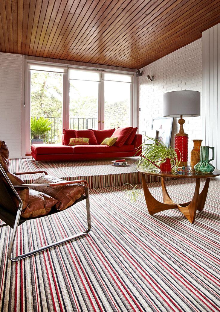 Camden loop pile striped carpet