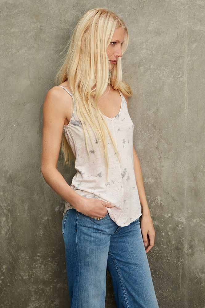 DAFFODIL LINEN KNIT TANK, Kirsty Hume x Velvet by Graham and Spencer.