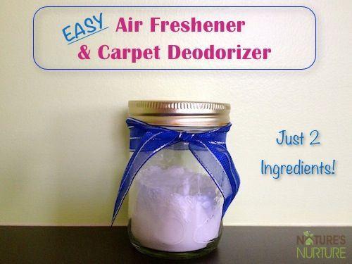 Homemade Air Fresheners: Room & Carpet Deodorizers - Nature's Nurture #foods #recipes