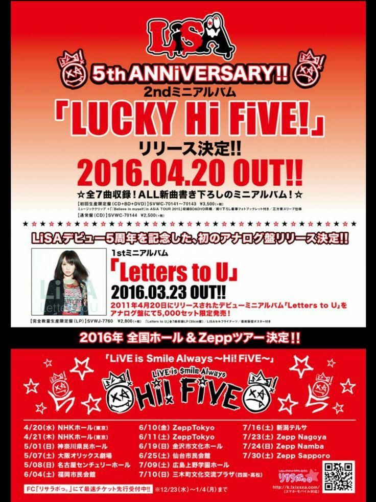 """Lisa Jpop lucky hi five   Live Tour Paling Bersejarah Si Badass LiSA : """"Hi FiVE""""! - Akiba Nation"""