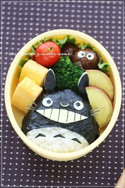 日本人のごはん/お弁当 Japanese meals/Bento トトロおむすび弁当 Totoro bento, studio ghibli food