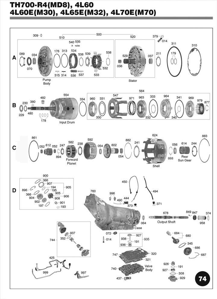 2008 Chevy Truck Wiring Diagram Automatic Transmission 4l60e Illustrated Parts Drawing