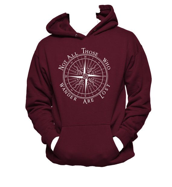 Not All Who Wander Are Lost Hanes Unisex Hooded SweatShirt,Wanderlust Hoodie,Nerd Girl Tees, Geek Chic Shirt Gifts Typography, graphic tee #blackfridaysale #cybermondaysale #christmasgift