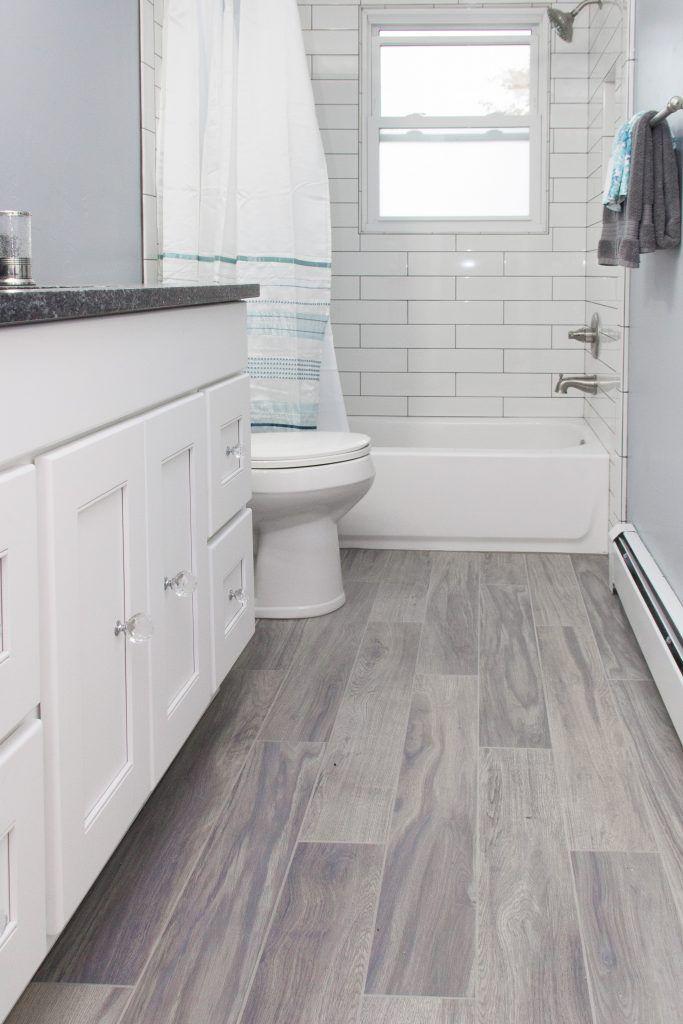 Tub Surround Tile Angora Soho 4x16 Glossy White Grout Charcoal Flooring Angora Century Woo Grey Bathroom Floor Wood Tile Bathroom Grey Bathroom Tiles