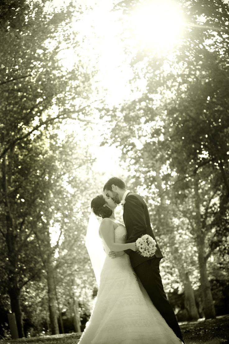 Garden wedding in a washed black and white, hint of vintage romance - Stangate House, Aldgate