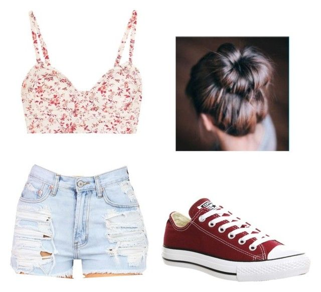 """""""Summer picnic outfit"""" by its-catalinaa on Polyvore featuring beauty and Converse"""