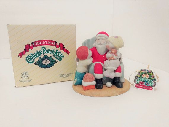 "Cabbage Patch Kids ""CHRISTMAS WISHES"" Fine Porcelain Figurine ~Style Number 5403 ~Collectible Numbered Limited Edition ~Xavier Roberts 1984"