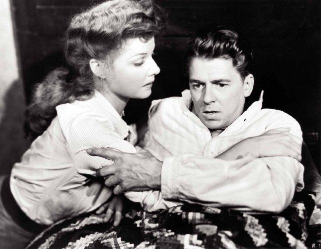 """Ronald Reagan and Ann Sheridan in   """"Kings Row"""".- Sam Wood (1942) This is where he delivers the famous line:  """"Where's the rest of me?!!!""""."""