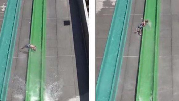 28/05/17 Jongen vliegt uit enorme waterglijbaan noord-Amerika  VS toerisme In California is een 10-jarige jongen uit een enorme waterglijbaan gevlogen.