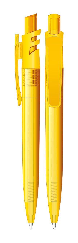 Pix din plastic Grand TS - Pix plastic cu corp si buton colorat transparent, clips colorat solid cu insertii colorate transparent.Disponibil in culorile: