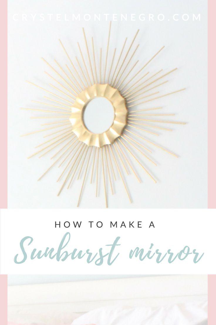 How to make a sunburst / Starburst mirror -- for $6! / DIY Sunburst mirror