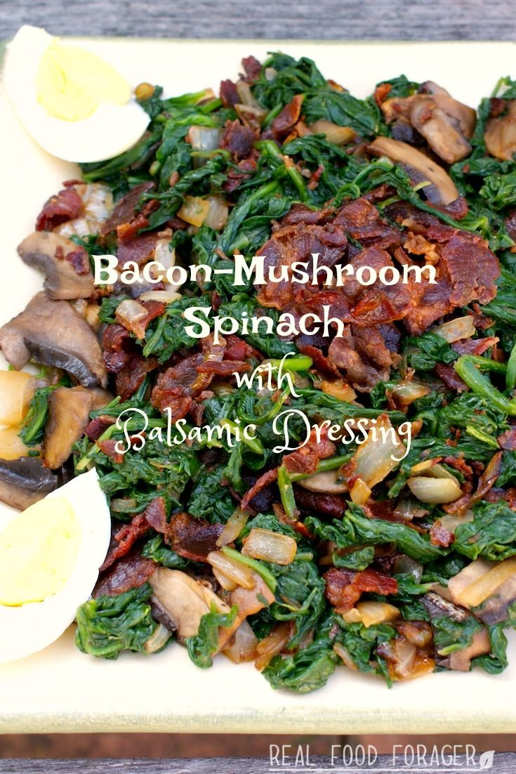 Recipe: Bacon-Mushroom Spinach with Balsamic Dressing. Grab the recipe for this sophisticated side dish!