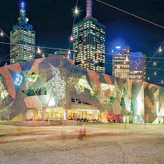 Stop No: 1 To Discover Melbourne!  At the heart of the city is 'Federation Square'!  It provides a snap shot of the diversity that typifies Melbourne and Victoria as a whole.  Home to great Art Galleries, major cultural attractions, world-class events, exhibitions, concerts, festivals and plenty of free events.  It is here where the locals and tourist mingle to eat & drink at the restaurants, cafes and bars, this is a great starting place when visiting Melbourne.  Visit Federation Square…