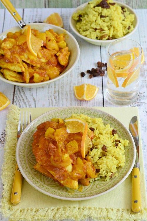 Mangós-narancsos csirkemell mazsolás rizzsel