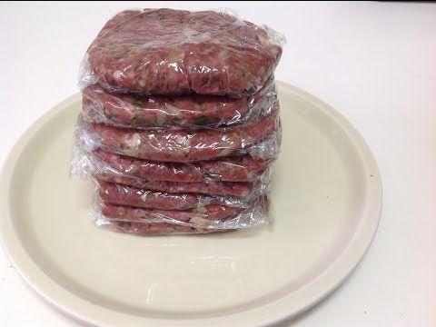 Hamburgesas caseras: Preparación de la carne - YouTube