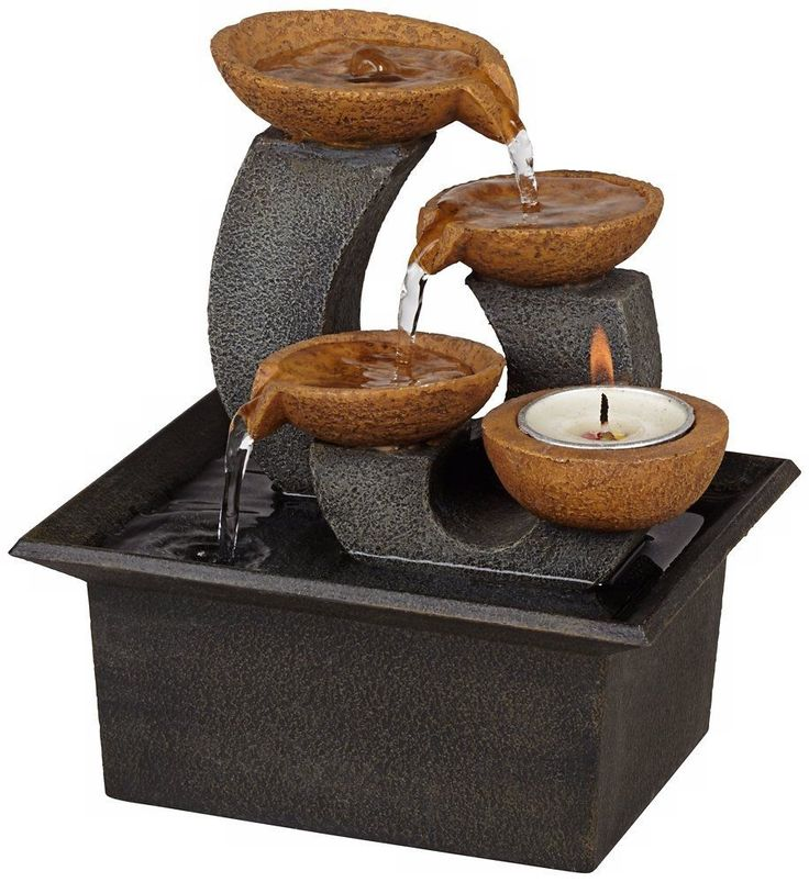 Indoor Table Fountain For Home Decoration Mini Tabletop Water Flows Lightweight  #IndoorTableFountainForHome