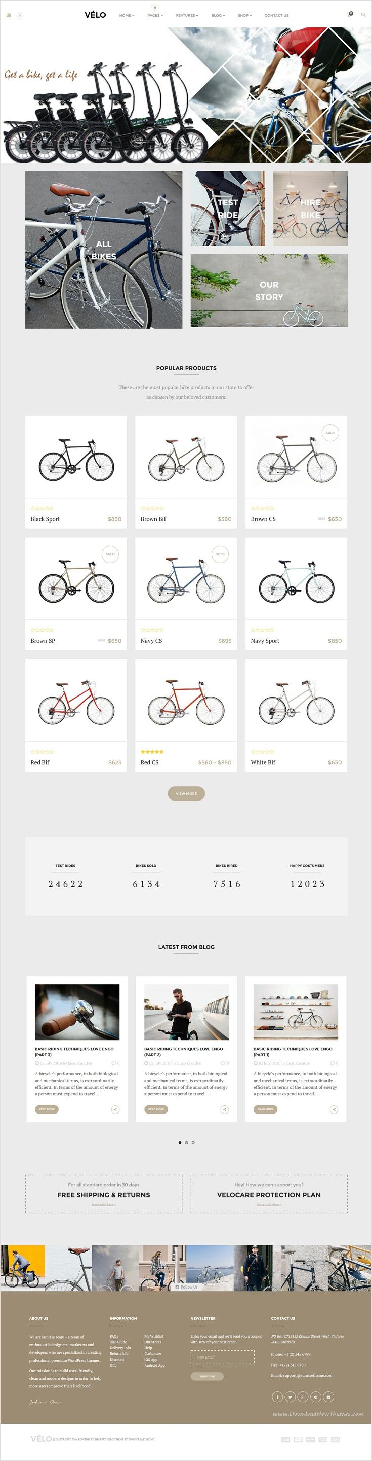 Velo is beautifully design responsive #Shopify theme for multipurpose #cycle, #bike #shop eCommerce website with 3 unique homepage layouts download now➩ https://themeforest.net/item/velo-bike-store-responsive-shopify-theme/17236615?ref=Datasata