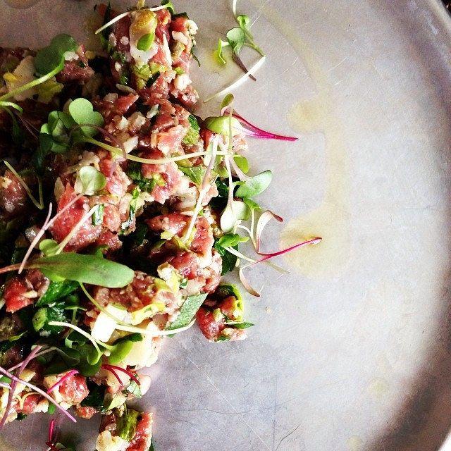 Toujours bon un tartare de boeuf #classic #beef #tartare #food