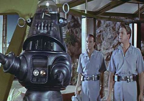 O robô Robby em cena do filme O planeta proibido, de 1956