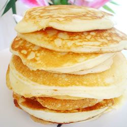 Fluffy Canadian Pancakes I've made these twice with kefir in place of the milk and added cinnamon. Delish!