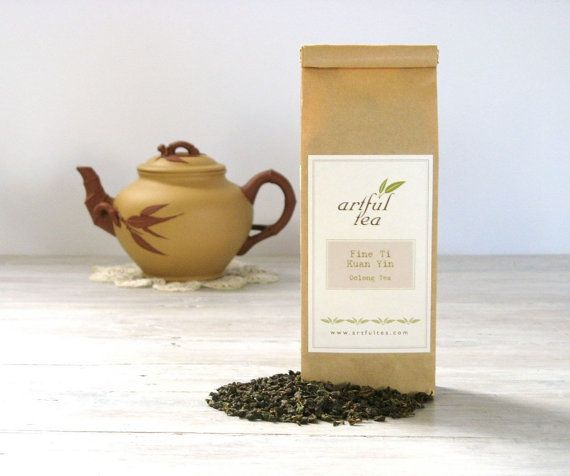 Fine Ti Kuan Yin Oolong Tea by ArtfulTea - 4 oz. bag of luxury loose leaf tea $12.00