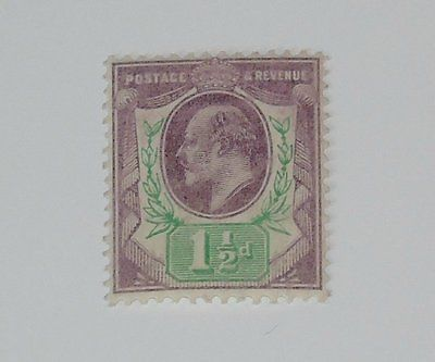 Stamp Pickers Great Britain 1902-11 Edward KEVII 1.5p Scott #129 MH $45