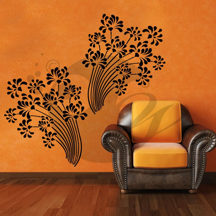 With this Beautiful Flowers Wall Sticker Decal you can decorate your walls in one of the most modern and elegant ways