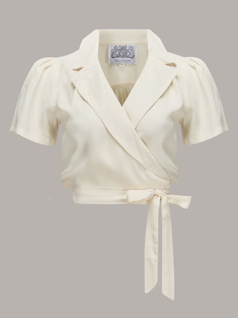 Greta Blouse in Cream - Rock n Romance.co.uk