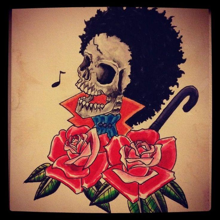 one piece tattoos | One Piece Brook Tattoo - I want Tattoo | I want Tattoo