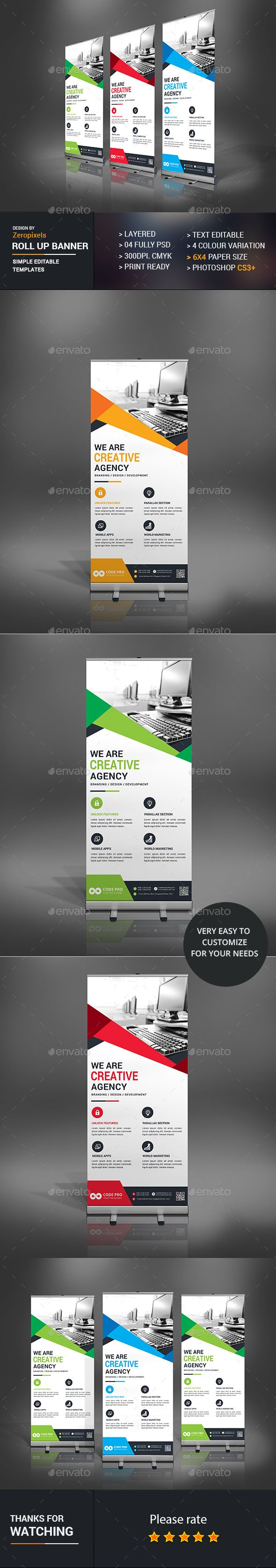 Roll Up Banner Design Template - Signage Print Template PSD. Download here: http://graphicriver.net/item/roll-up-banner/16893685?ref=yinkira