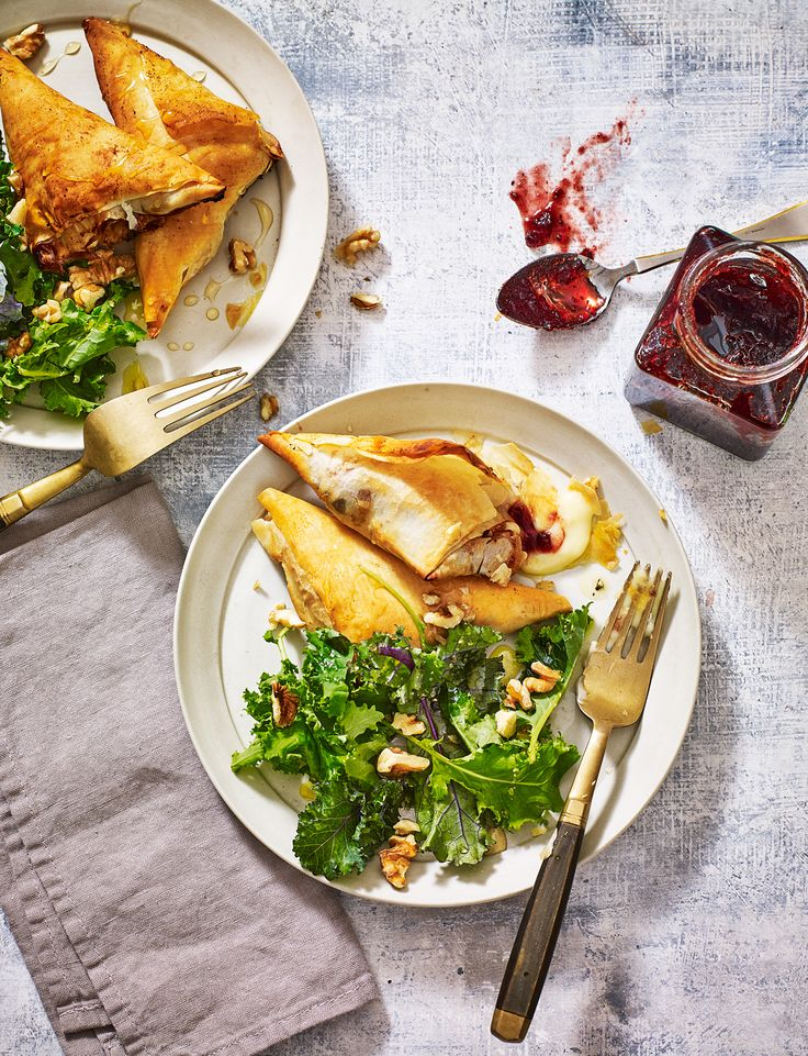 Our cheese and cranberry parcels are an easy way to use up the cranberry sauce