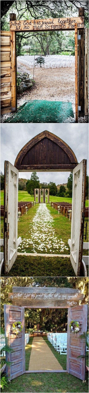 rustic wedding entrance ideas for outdoor ceremony