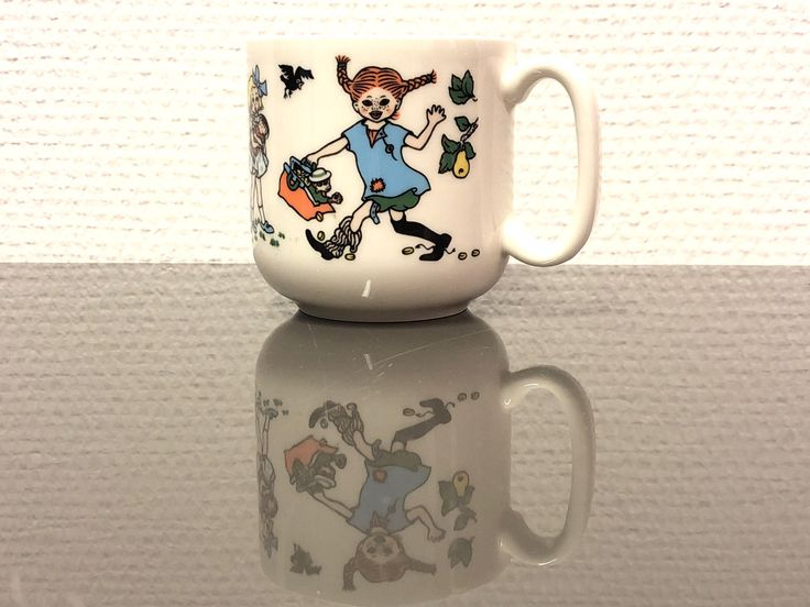 Excited to share the latest addition to my #etsy shop: Pippi mug by Rörstrand Sweden. Collectible vintage children dish.