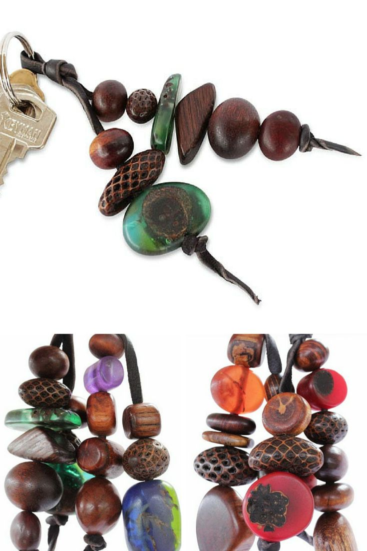 The No Worry Keyrings play on the idea of traditional worry beads but with an Australian flavour. Made from several different Australian timbers, seeds and pods. Strung on durable kangaroo hide they are available in cool tones as well as warm tones.