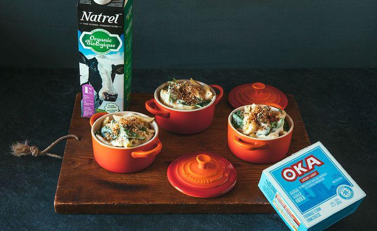 Notre recette de Mini macaroni au fromage alfredo, OKA léger et épinards — Semaine 10 : Les restants | Natrel | Natrel
