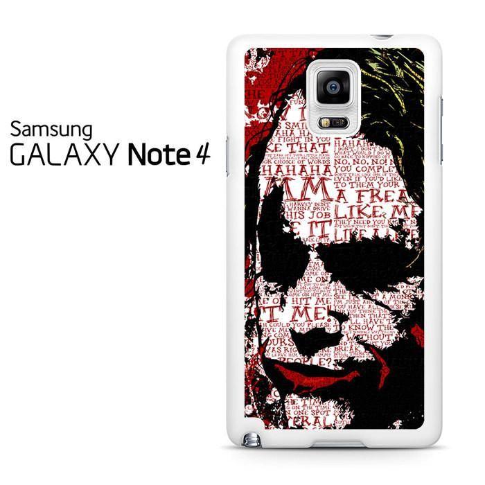 The Joker Graffiti Samsung Galaxy Note 4 Case